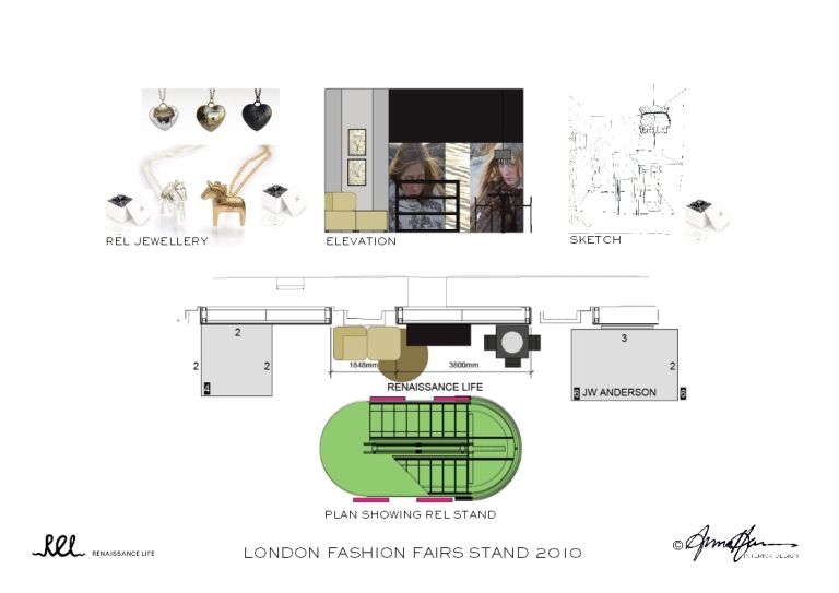 STAND INTERIOR DESIGN_LONDON FASHION FAIRS_RENAISSANCE LIFE_ANNA HANSSON DESIGN
